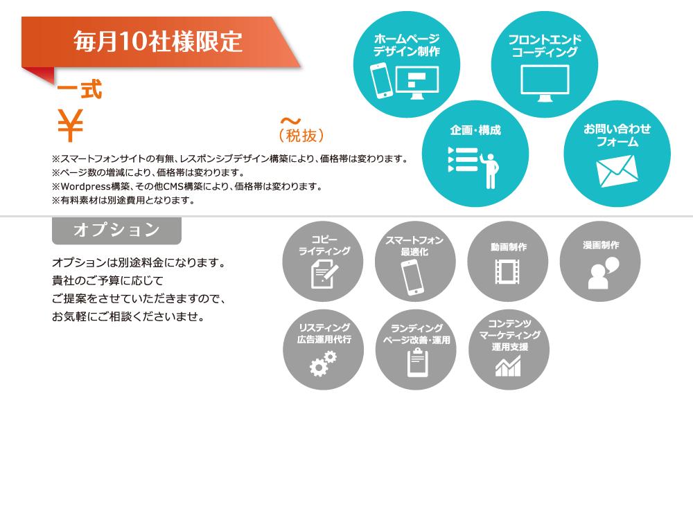 毎月10社様限定 一式 ¥1,000,000~